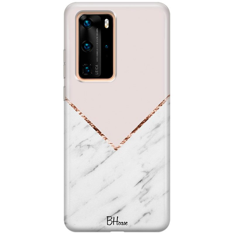 Marble And Pink Color Coque Huawei P40 Pro
