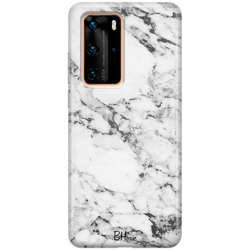 Marble White Coque Huawei P40 Pro