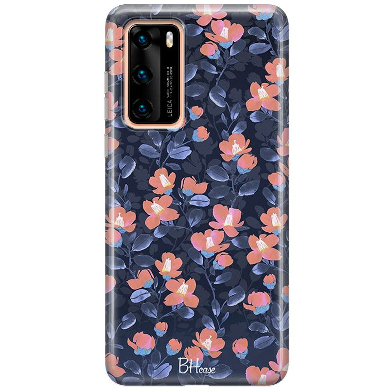 Midnight Floral Coque Huawei P40