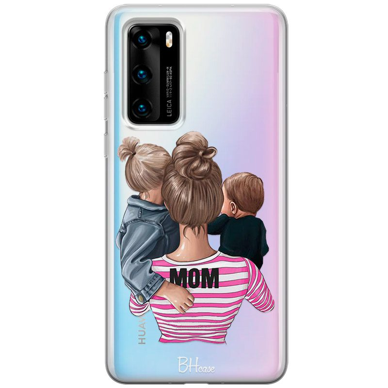 Mom Of Boy And Girl Coque Huawei P40