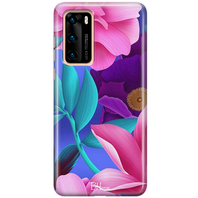 Pinky Floral Coque Huawei P40