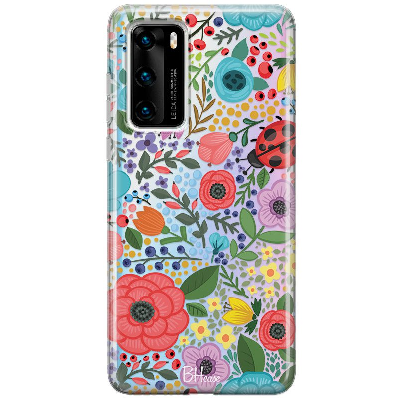 Spring Flowers Coque Huawei P40