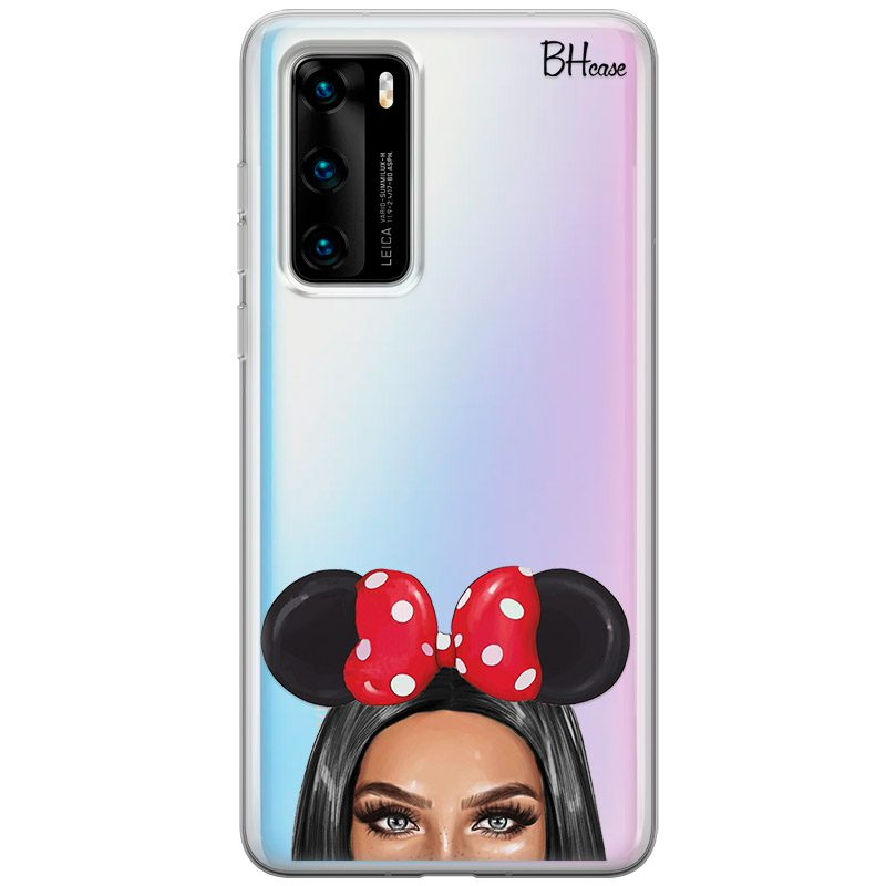 Black Haired Girl With Ribbon Coque Huawei P40