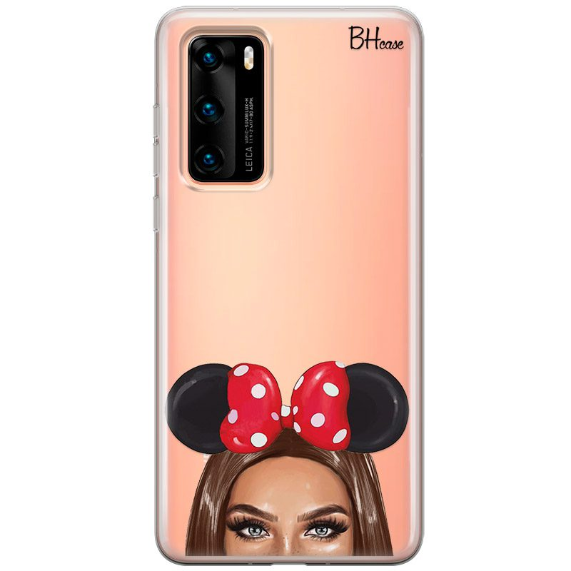 Brunette Girl With Ribbon Coque Huawei P40
