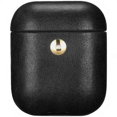 iCarer Crazy Horse Leather Coque AirPods Black