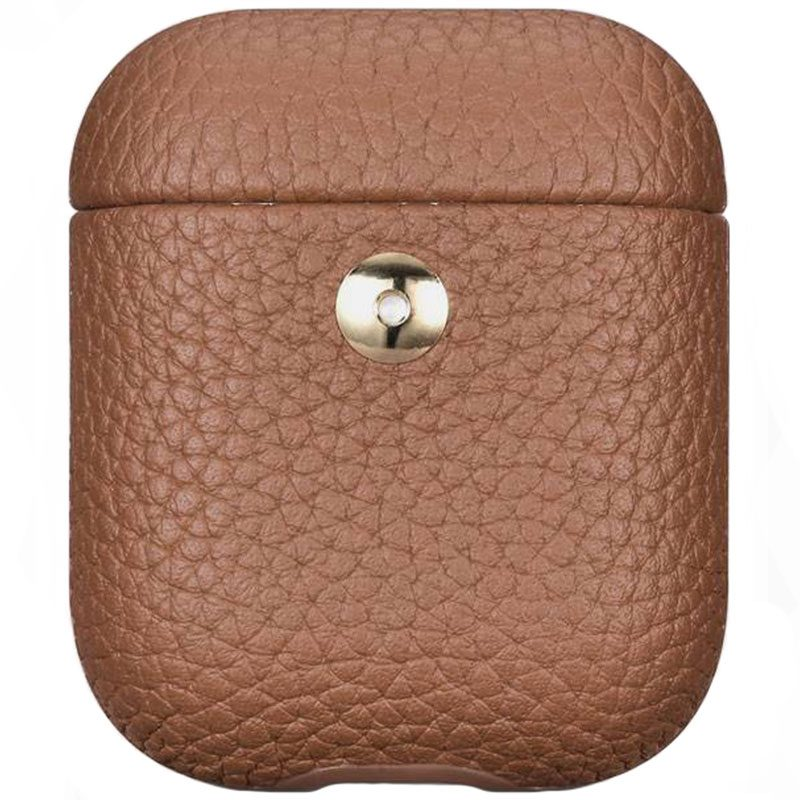 iCarer Hermes Leather Coque AirPods Brown