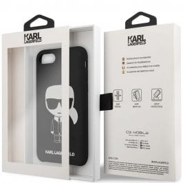 Karl Lagerfeld Iconic Full Body Silicone Black Coque iPhone 8/7/SE 2 2020