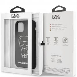 Karl Lagerfeld Silicone White Out Black Coque iPhone 11 Pro Max