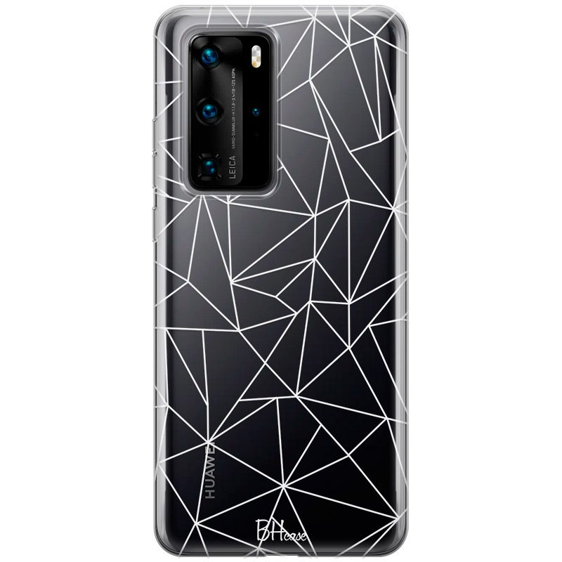 Lines White Net Coque Huawei P40 Pro