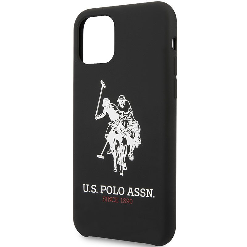 U.S. Polo Big Horse Silicone Black Coque iPhone 11