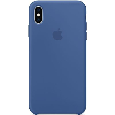 Apple Delf Blue Silicone Coque iPhone XS Max