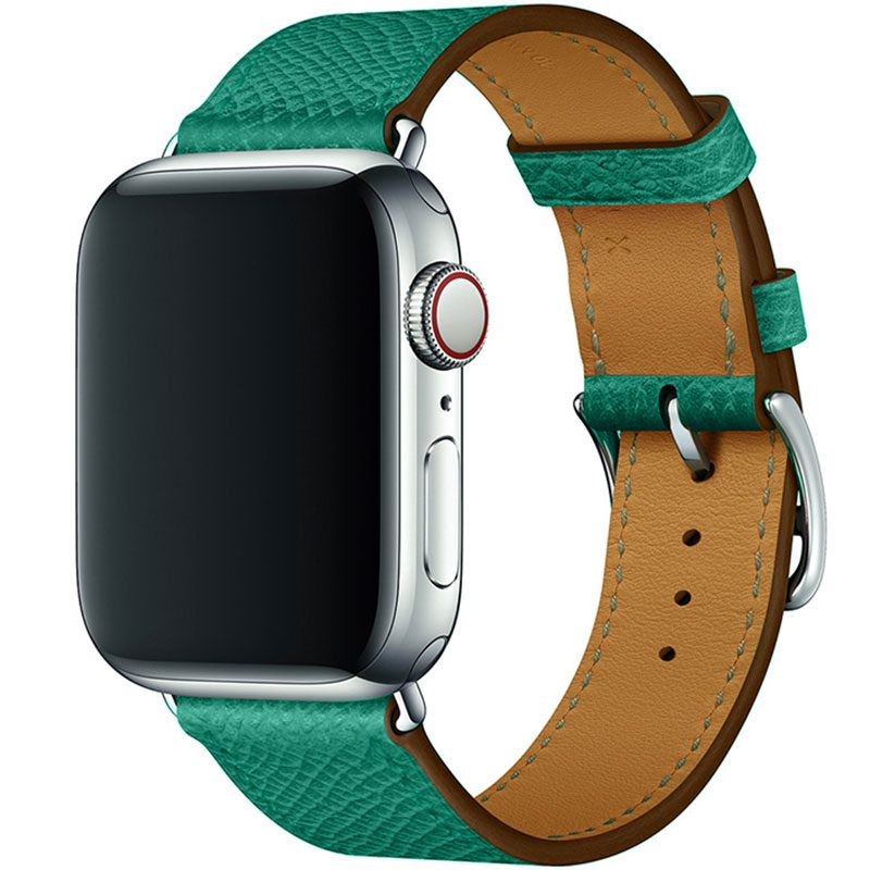 Leather Strap Apple Watch 42/44mm Green
