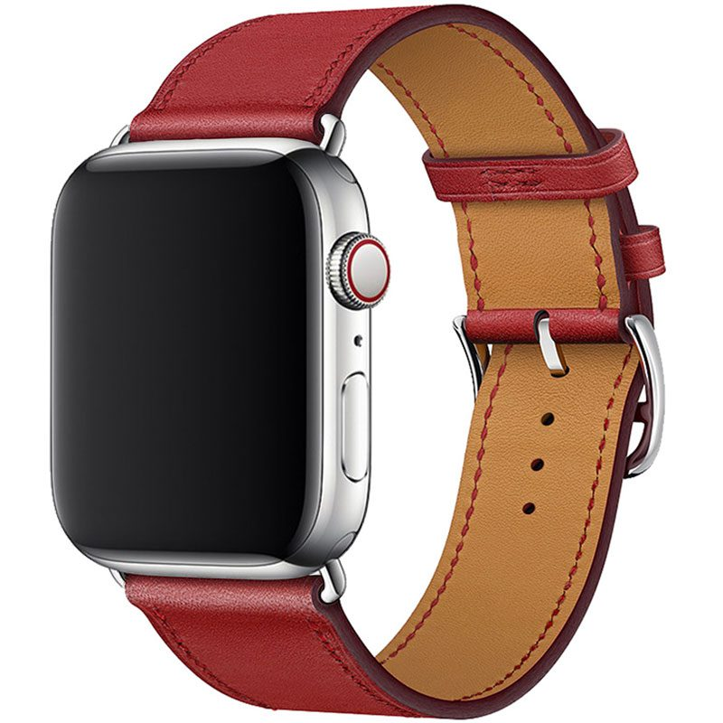 Leather Strap Apple Watch 42/44mm Red