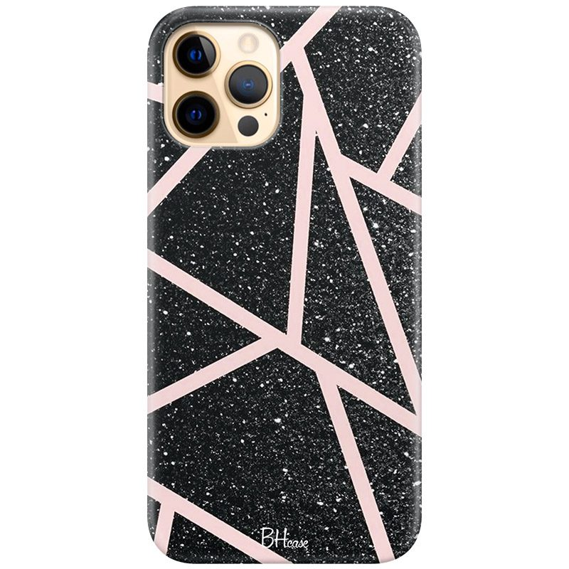 Black Glitter Pink Coque iPhone 12 Pro Max