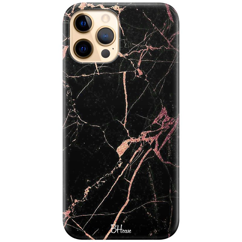 Black Rose Marble Coque iPhone 12 Pro Max