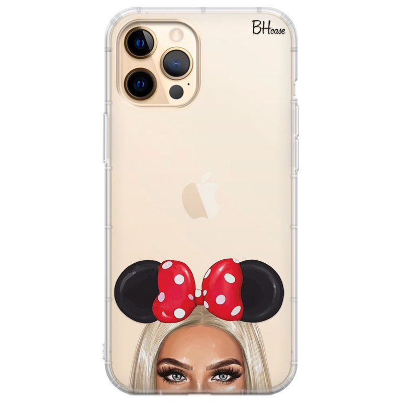 Blonde Girl With Ribbon Coque iPhone 12 Pro Max
