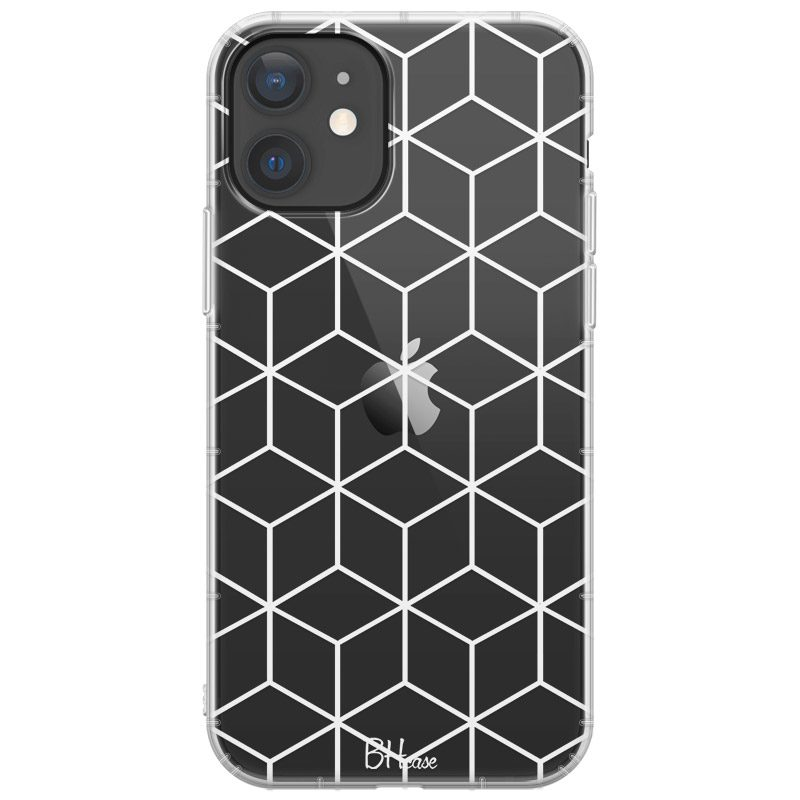 Cubic Grid Coque iPhone 12 Mini