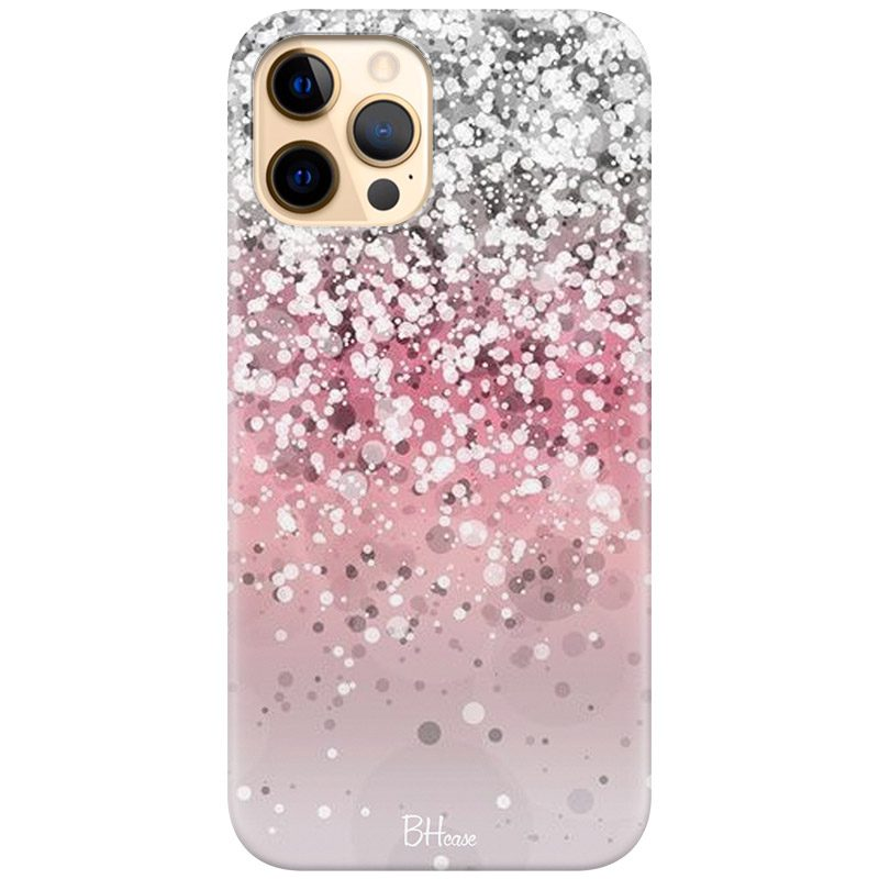 Glitter Pink Silver Coque iPhone 12 Pro Max