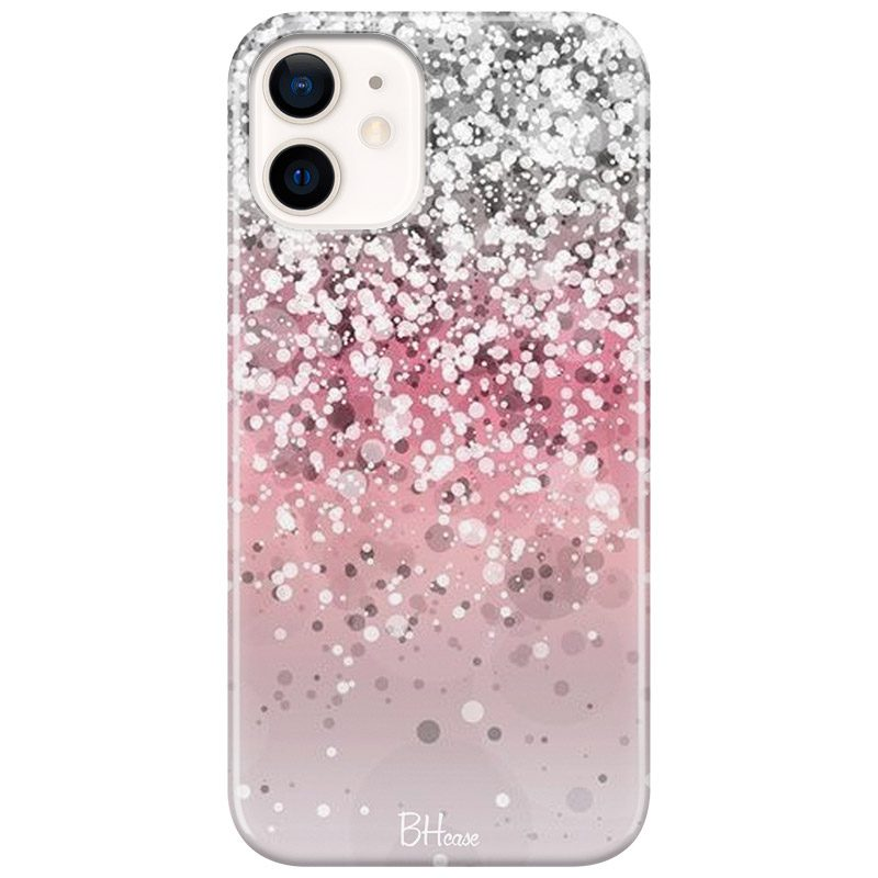 Glitter Pink Silver Coque iPhone 12/12 Pro