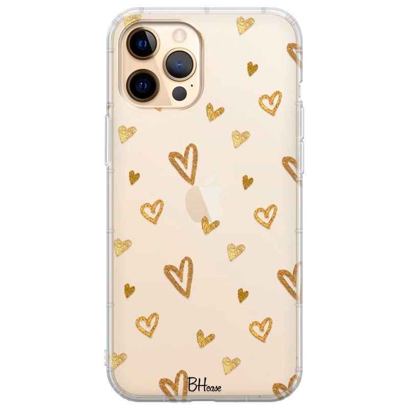Golden Hearts Coque iPhone 12 Pro Max