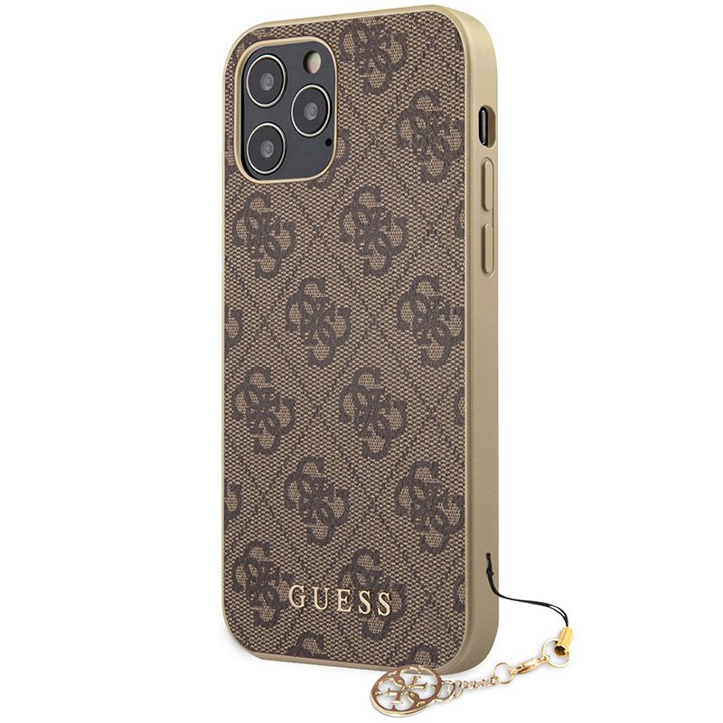 Guess 4G Charms Brown Coque iPhone 12/12 Pro