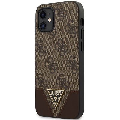 Guess 4G Triangle Brown Coque iPhone 12 Mini