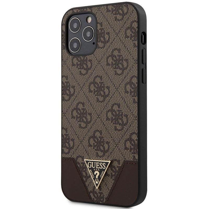 Guess 4G Triangle Brown Coque iPhone 12/12 Pro
