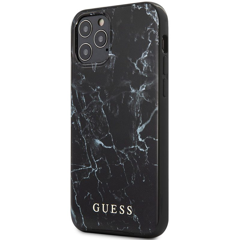 Guess TPU Marble Black Coque iPhone 12/12 Pro