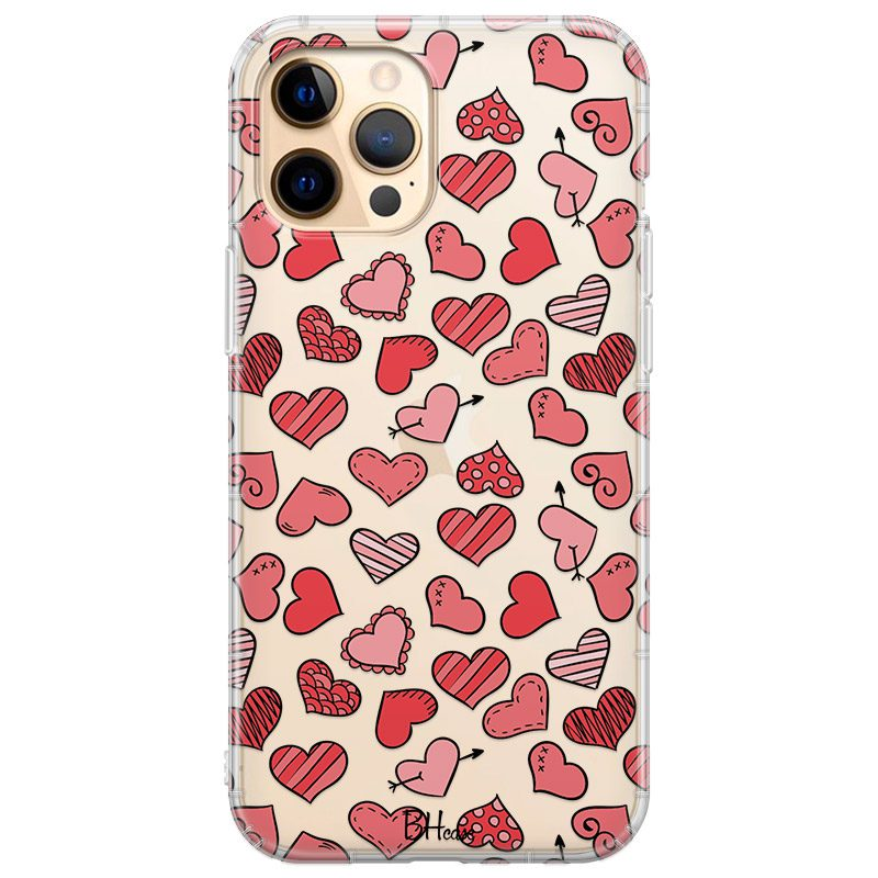 Hearts Red Coque iPhone 12 Pro Max