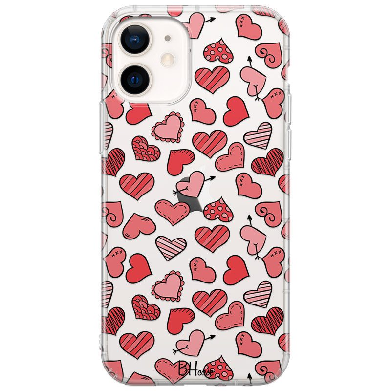 Hearts Red Coque iPhone 12 Mini