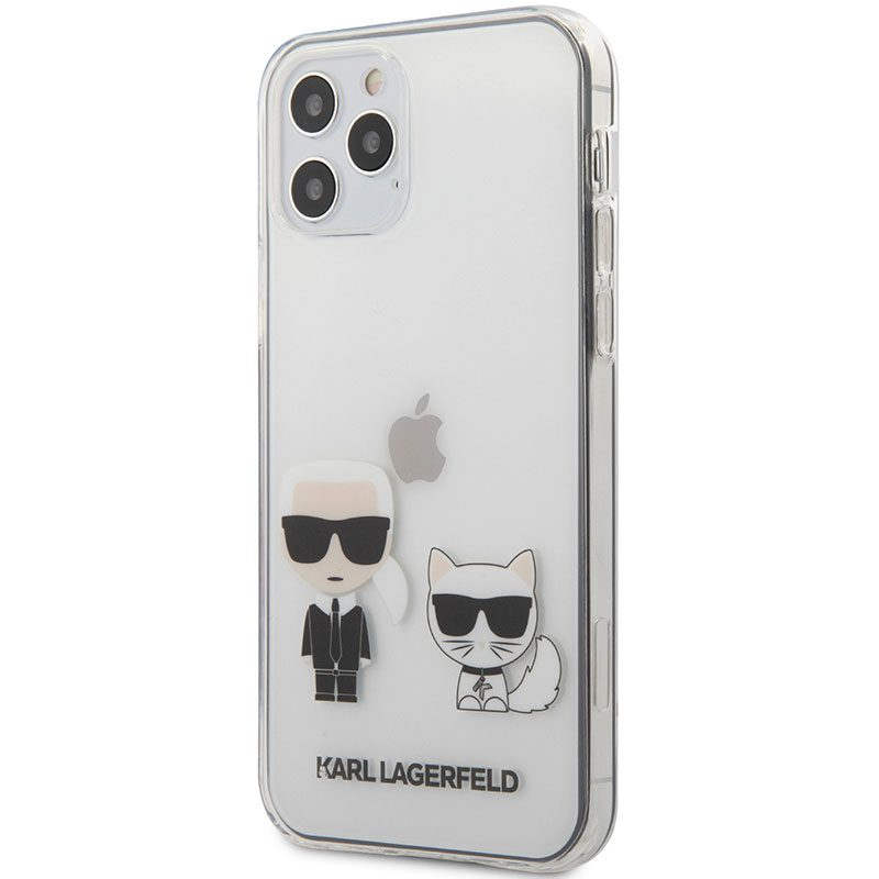 Karl Lagerfeld Karl and Choupette TPU Transparent Coque iPhone 12/12 Pro