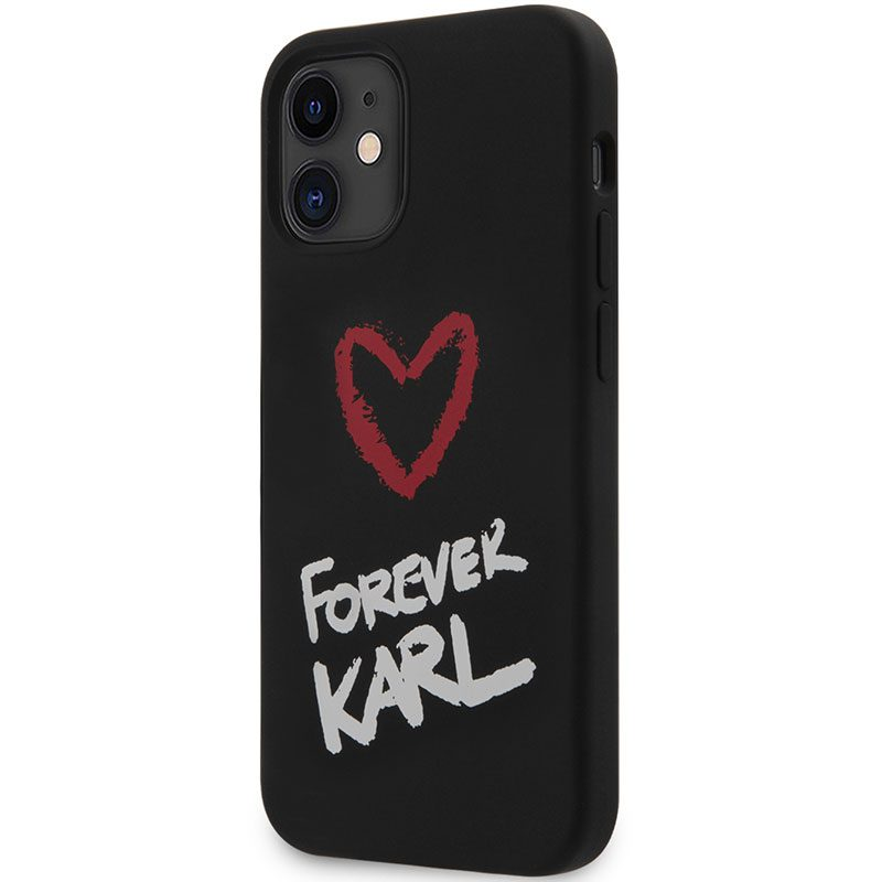 Karl Lagerfeld Silicone Forever Black Coque iPhone 12 Mini
