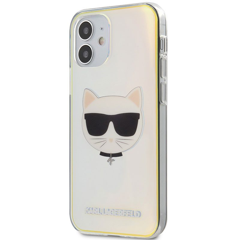 Karl Lagerfeld TPU Choupette Head Iridescent Coque iPhone 12 Mini