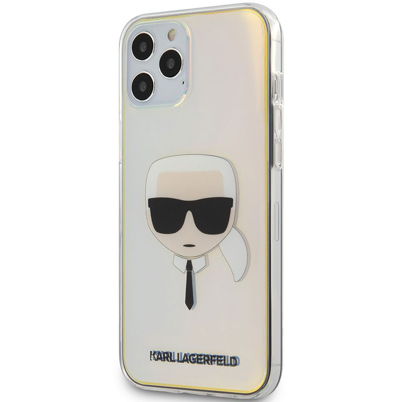 Karl Lagerfeld TPU Head Iridescent Coque iPhone 12/12 Pro