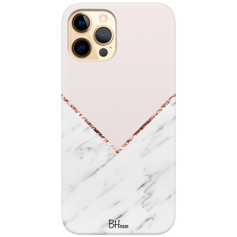 Marble And Pink Color Coque iPhone 12 Pro Max