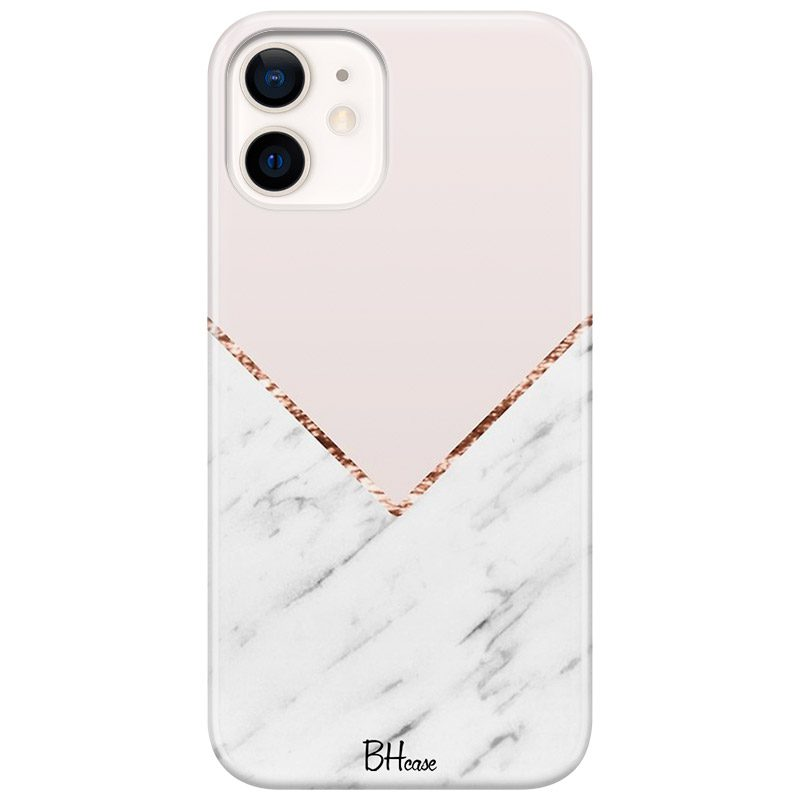 Marble And Pink Color Coque iPhone 12 Mini