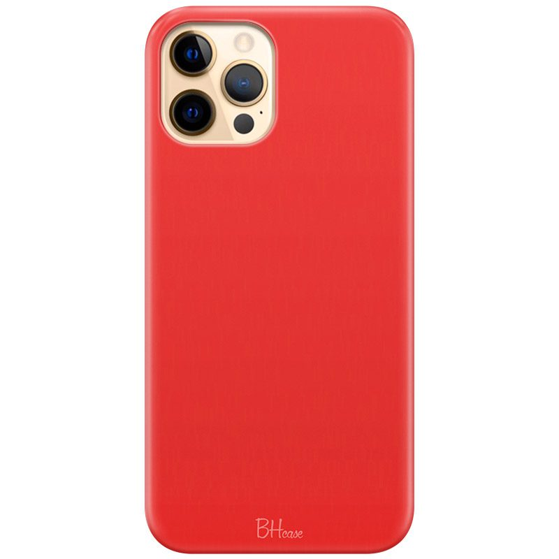 Red Apple Color Coque iPhone 12 Pro Max