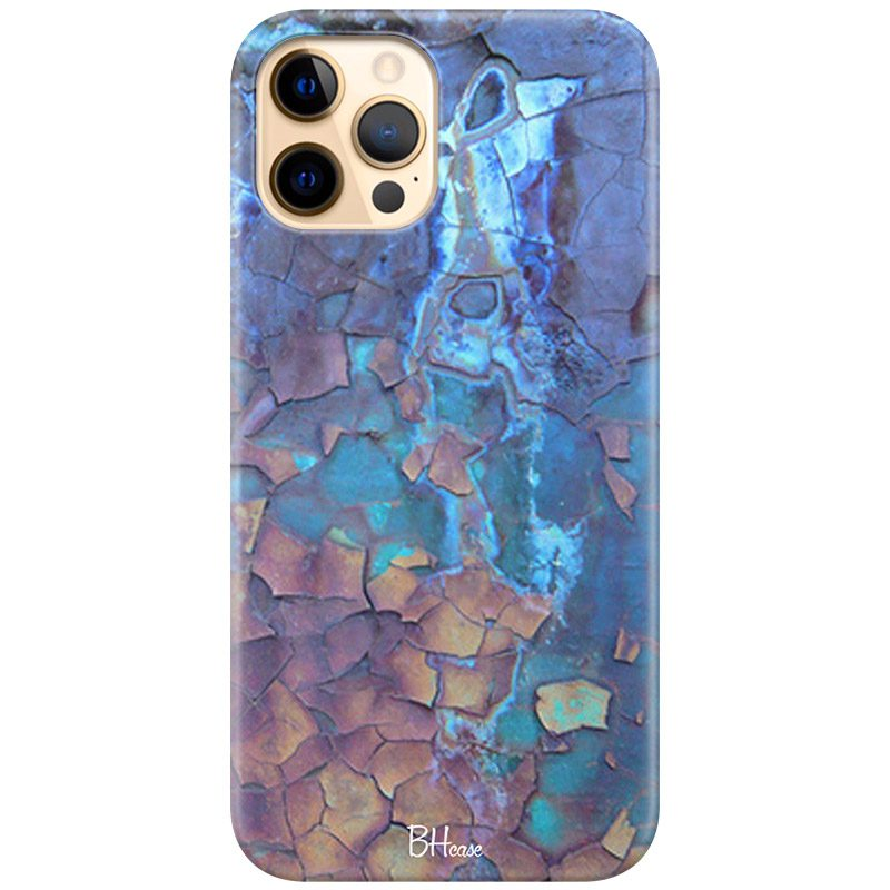 Stone Cracked Blue Coque iPhone 12 Pro Max
