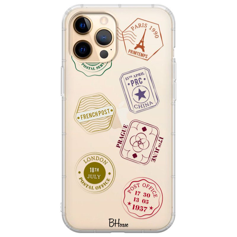 Travel Stamps Coque iPhone 12 Pro Max