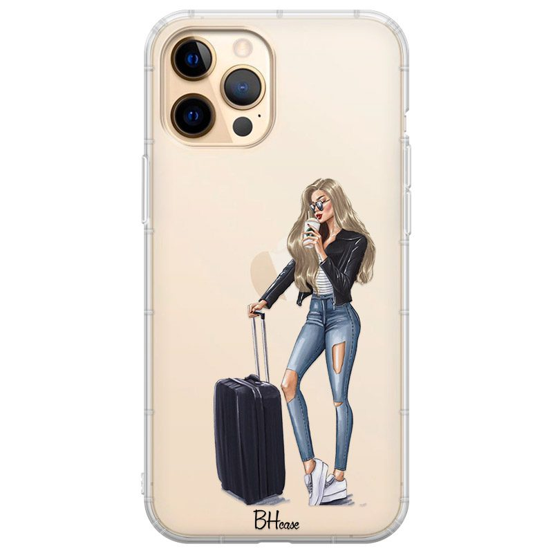 Woman Blonde With Baggage Coque iPhone 12 Pro Max