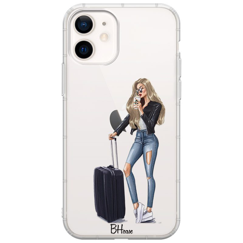 Woman Blonde With Baggage Coque iPhone 12 Mini