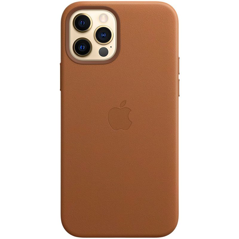 Apple Saddle Brown Leather MagSafe Coque iPhone 12/12 Pro