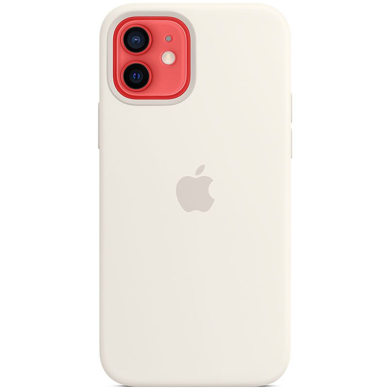 Apple White Silicone MagSafe Coque iPhone 12/12 Pro