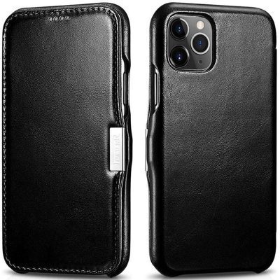 iCarer Vintage Series Side-open Black Coque iPhone 11 Pro