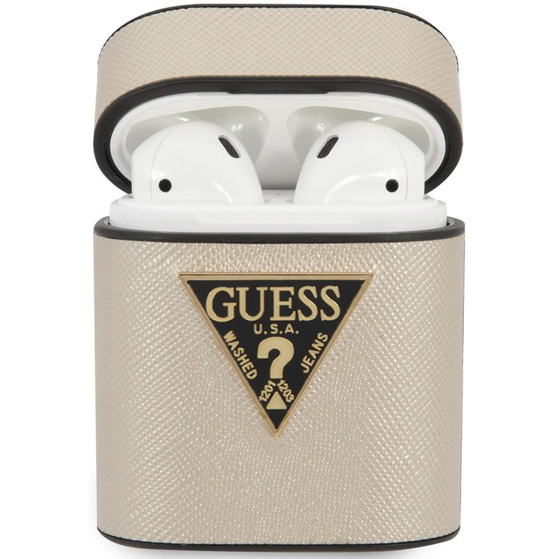 Guess AirPods Case Saffiano Beige