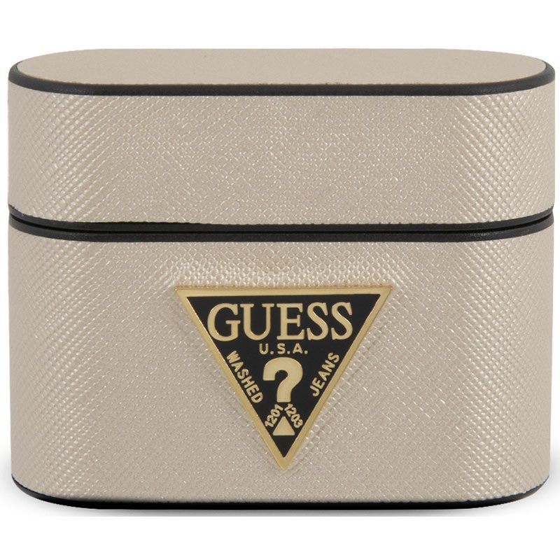 Guess AirPods Pro Case Saffiano Beige