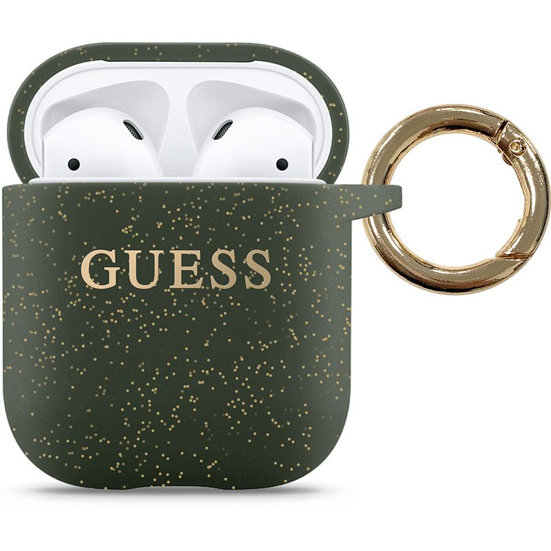 Guess AirPods Silicone Case Khaki
