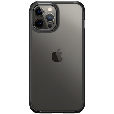 Spigen Ultra Hybrid Matte Black Coque iPhone 12/12 Pro