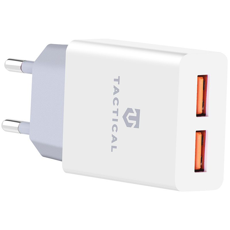 Tactical 2xUSB-A 2.1A Travel Charger White