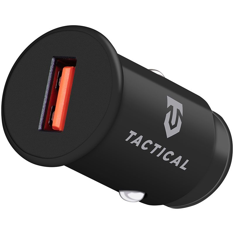 Tactical USB-A QC 3.0 3A Car Charger Black
